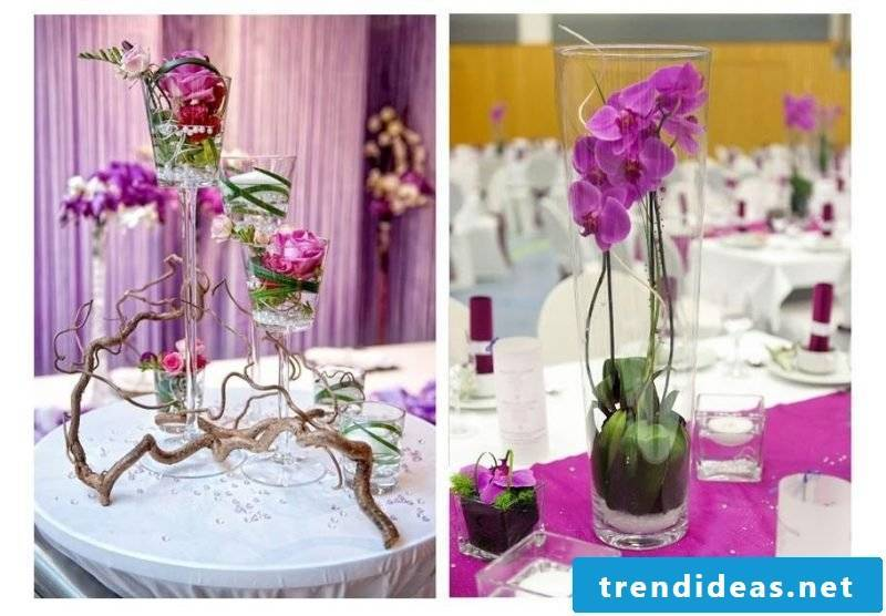 floral table decoration pink