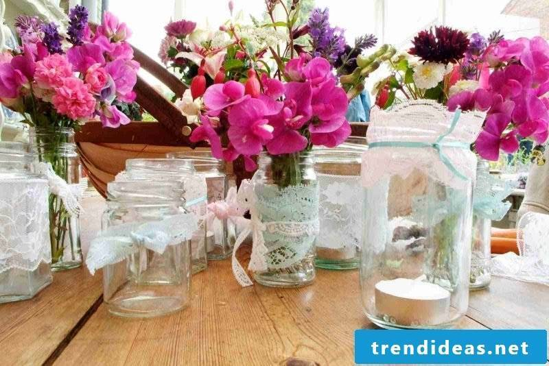 floral table decoration colorful