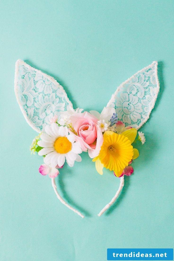 Make flower diadem itself