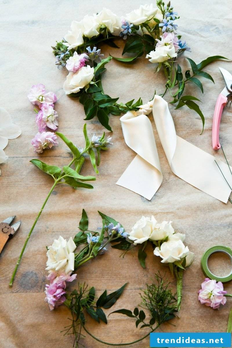 Make flower flowers yourself