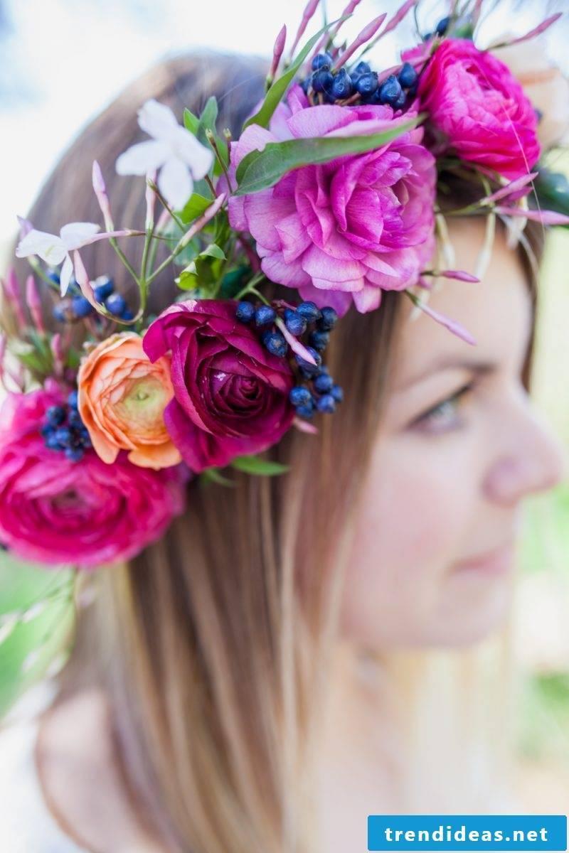Hawaii flower wreath make yourself