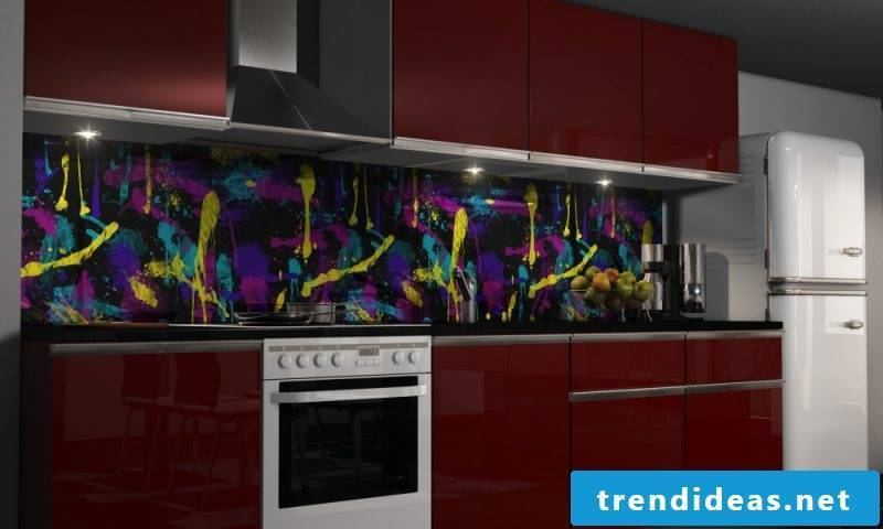 non-traditional foil cake wall looks beautiful in the modern kitchen