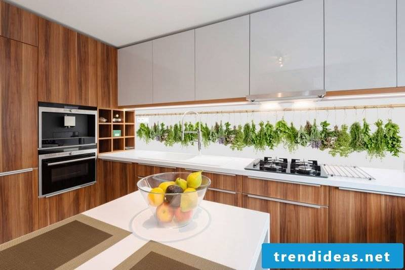 bright foil cake wall visually enhances the kitchen