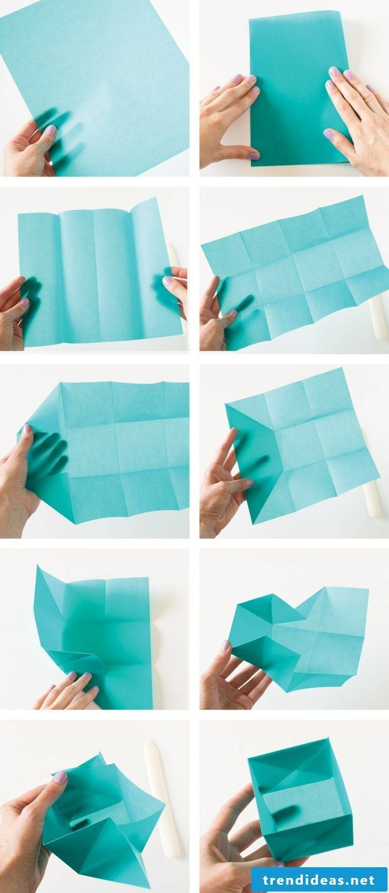 Gift box made only from tissue paper