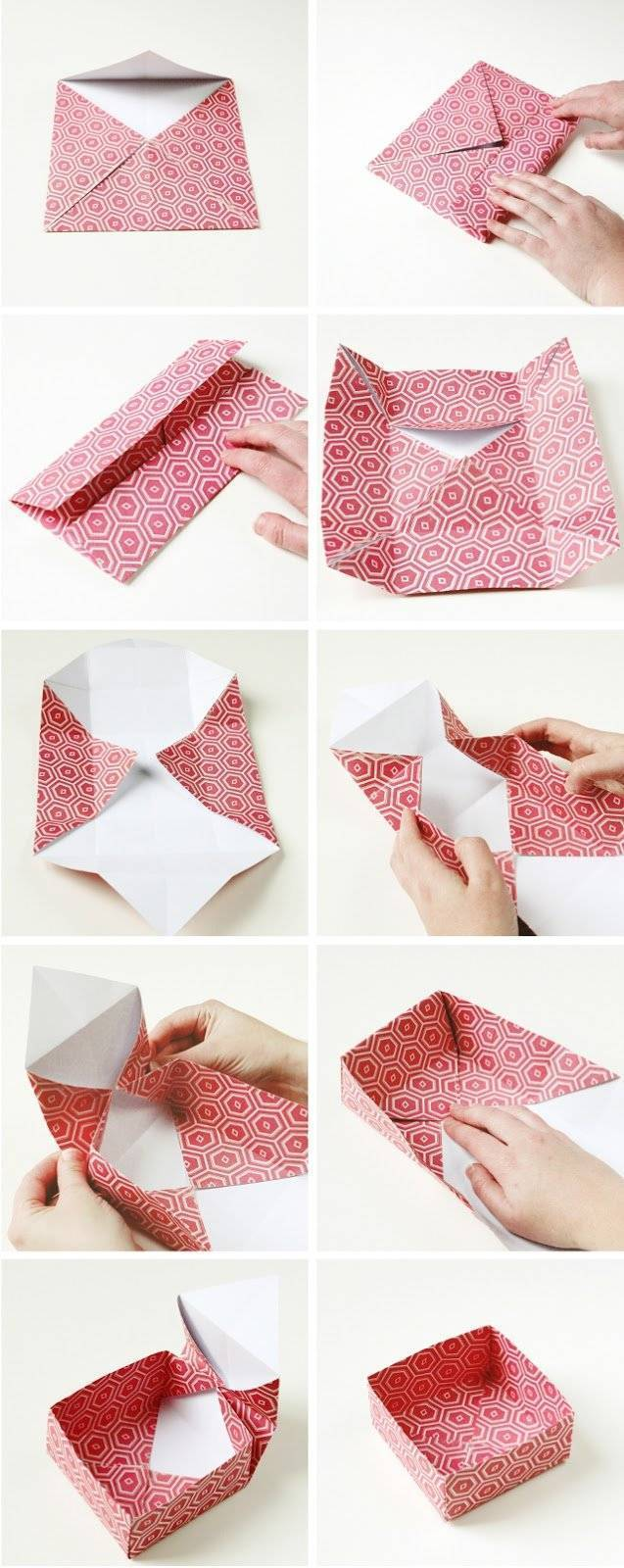 Gift wrapping made of wrapping paper - DIY instructions