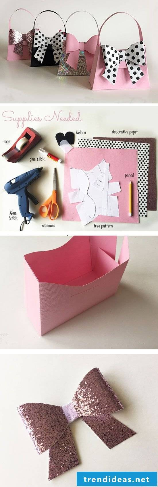 Box fold in the form of a bag