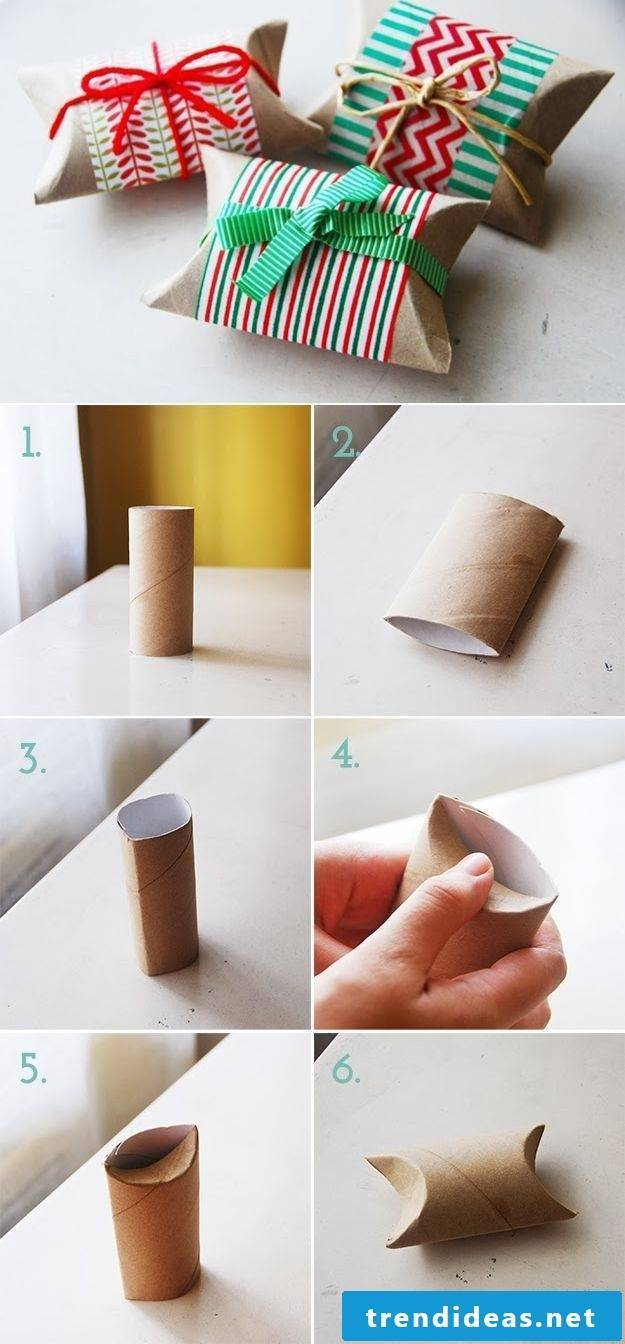 Box fold with toilet paper roll