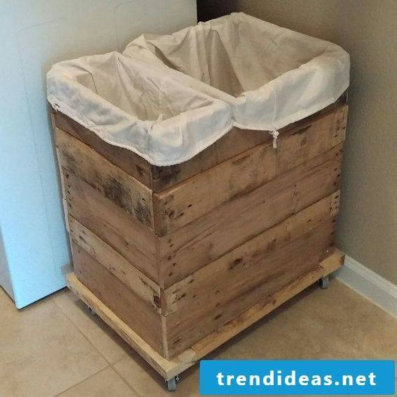A rustic look for your laundry basket