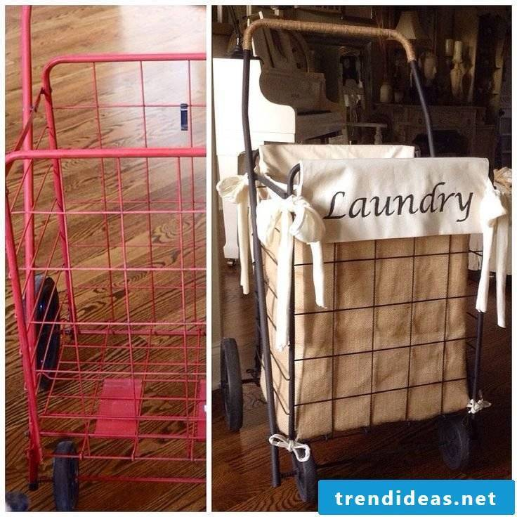 Many cool ideas on how you can make a laundry basket yourself
