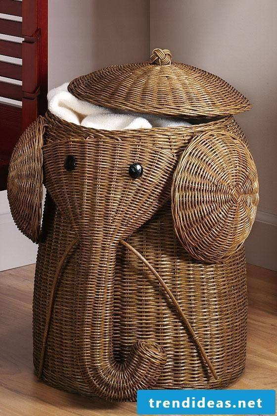 Make creative ideas for laundry basket yourself