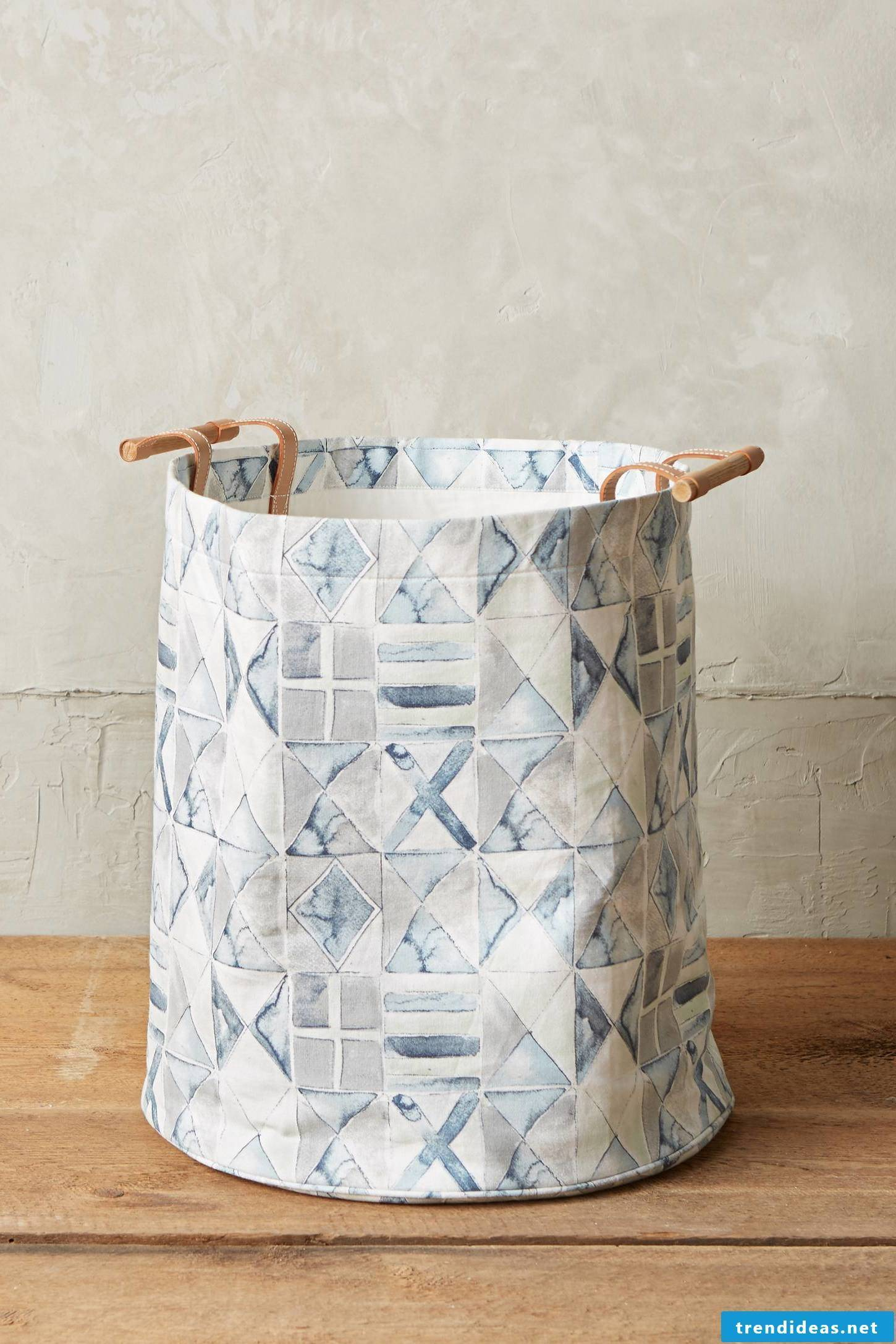 Unconventional thinking: Make your own laundry basket without sewing!
