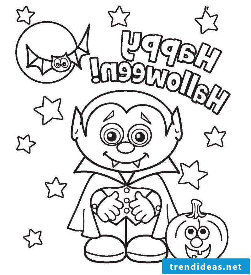 Coloring pages for Halloween inspired by Dracula