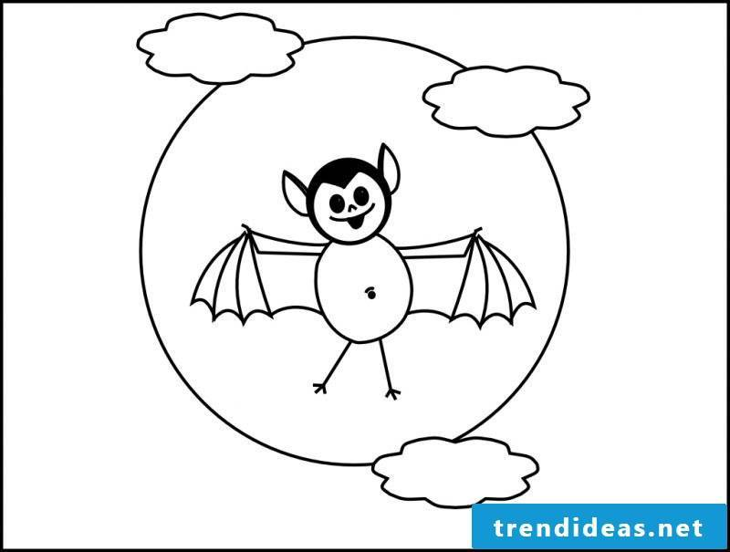 Decorate your apartment with coloring pages for Halloween from your children