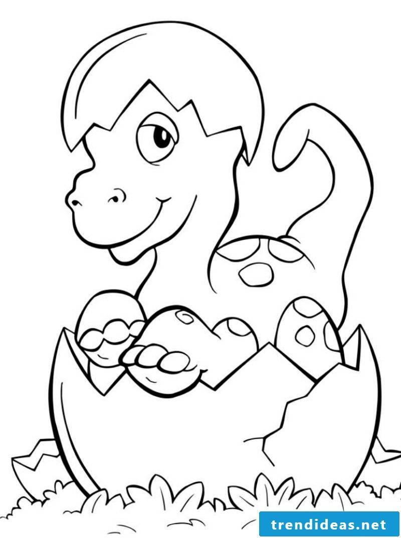 Children coloring page dinosaurs