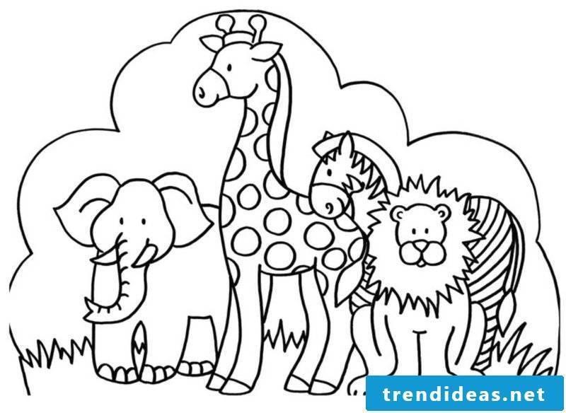 Print coloring animals Safari