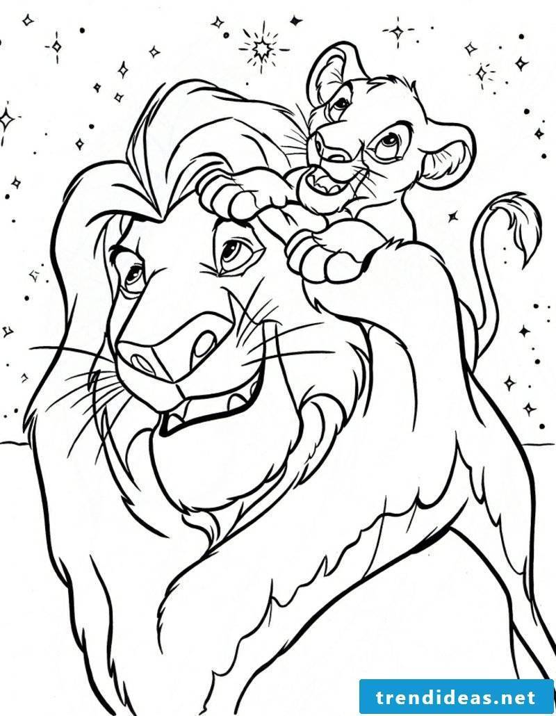 Coloring book coloring pages free lions