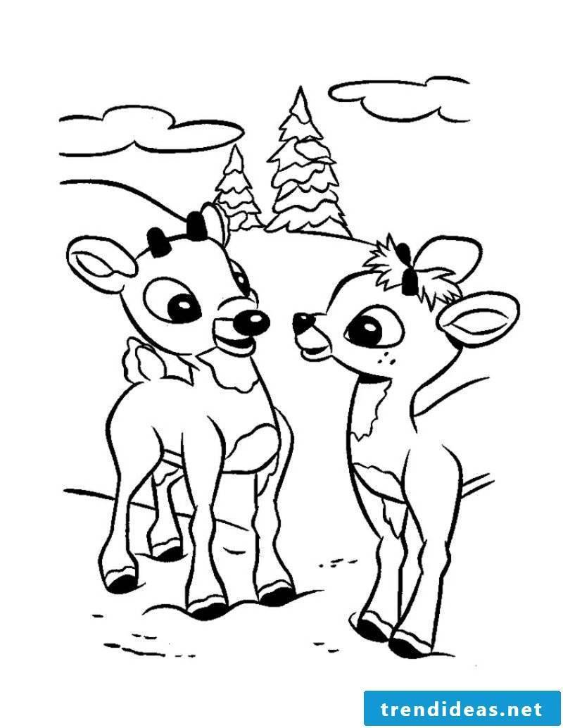 Coloring pages Animals deer