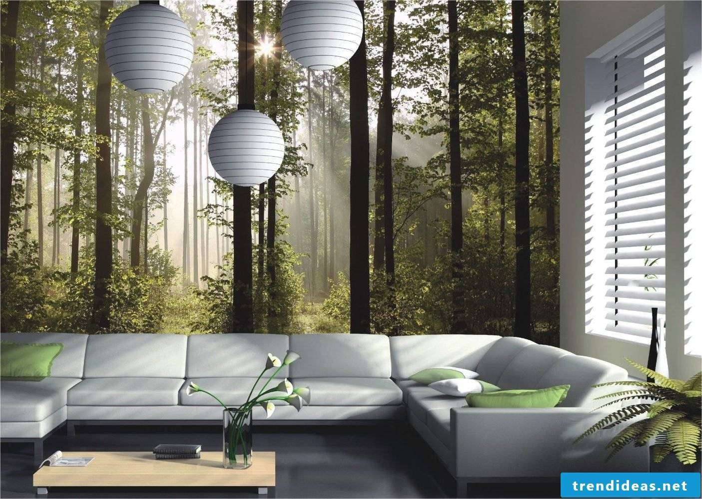 Wall Mural - Stage a haunted place in your living room