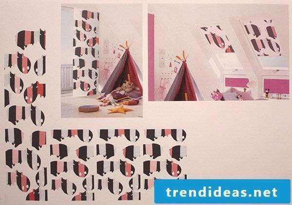 Textile design for children's room