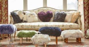 Furnishing ideas with fur: cuddly furniture for cold winter days!