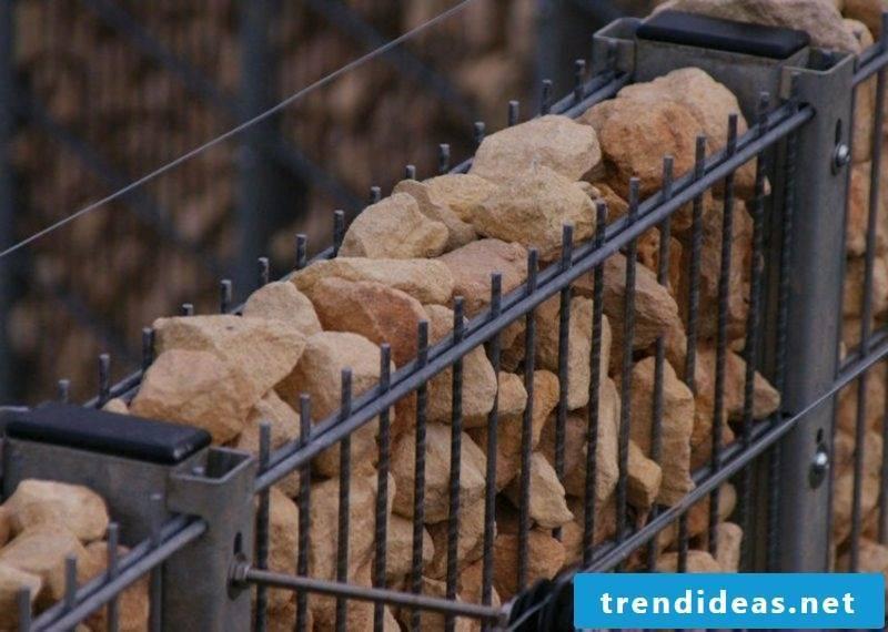 Gabion wall stone classic look