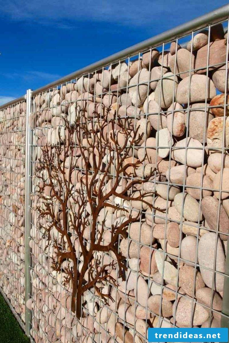 Gabion wall made of natural stone classic design