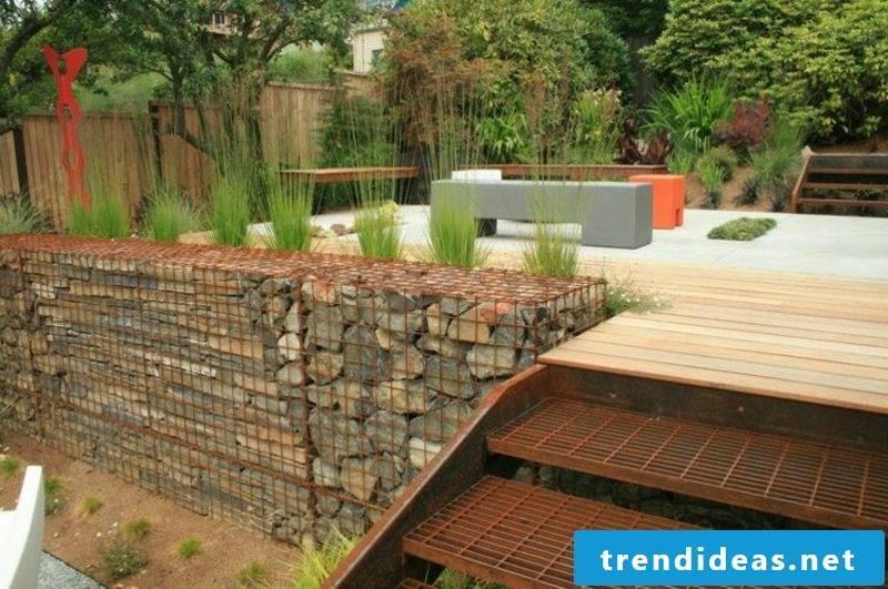 Gabion wall stone