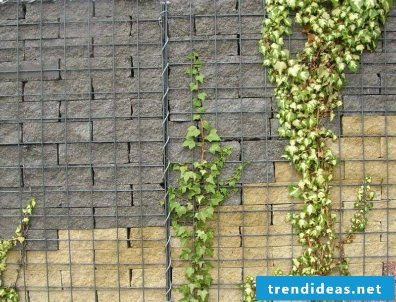 original gabion wall made of two types of stone