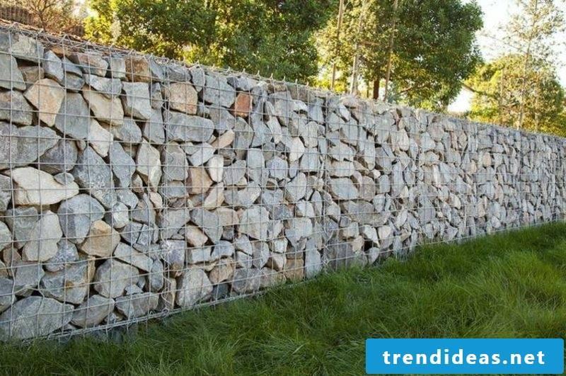 Gabion stone wall classic design