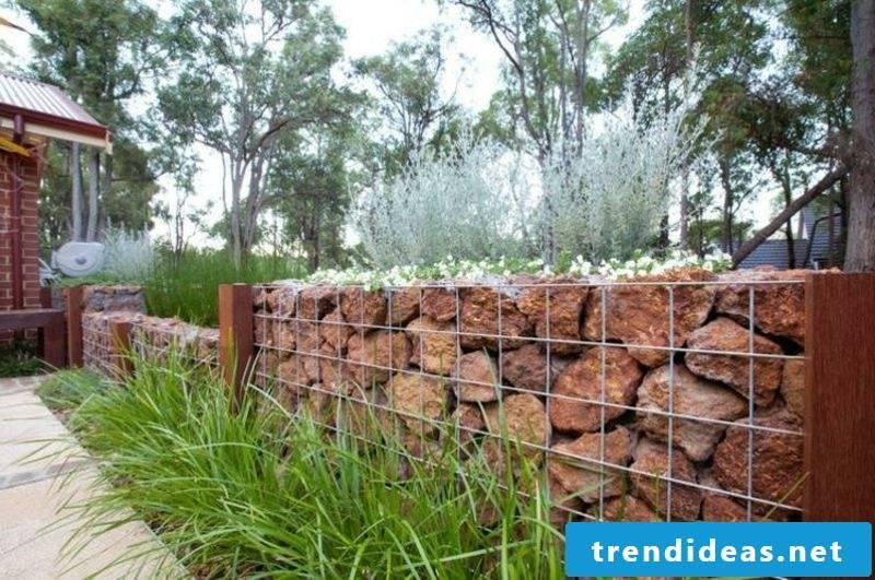 low gabion stone wall