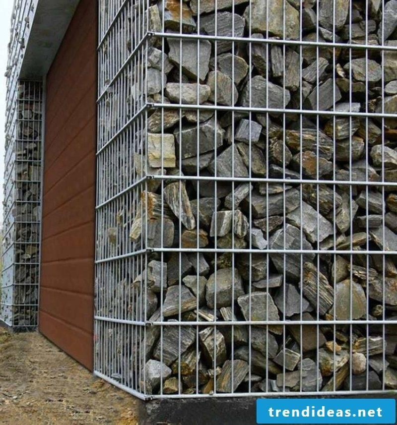 Gabion wall natural stone landscaping