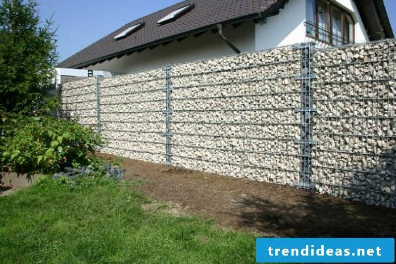 classic gabion fence stone