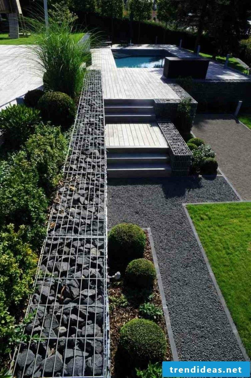 Gabion fence stone