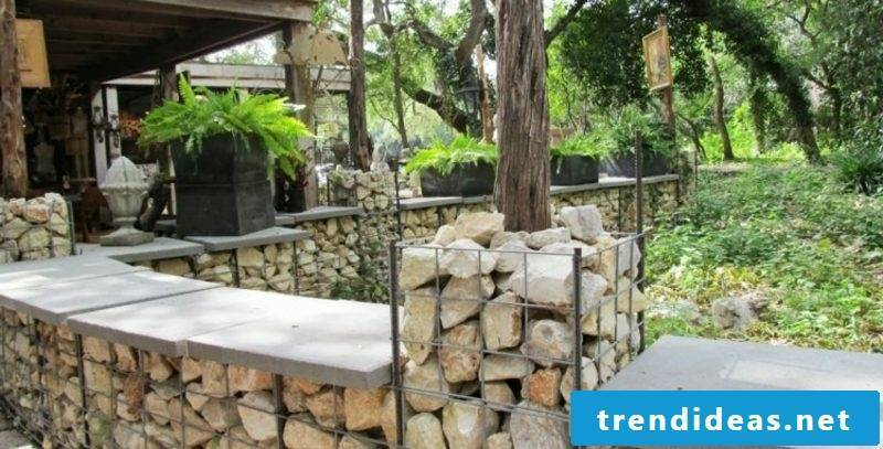 elegant gabion fence