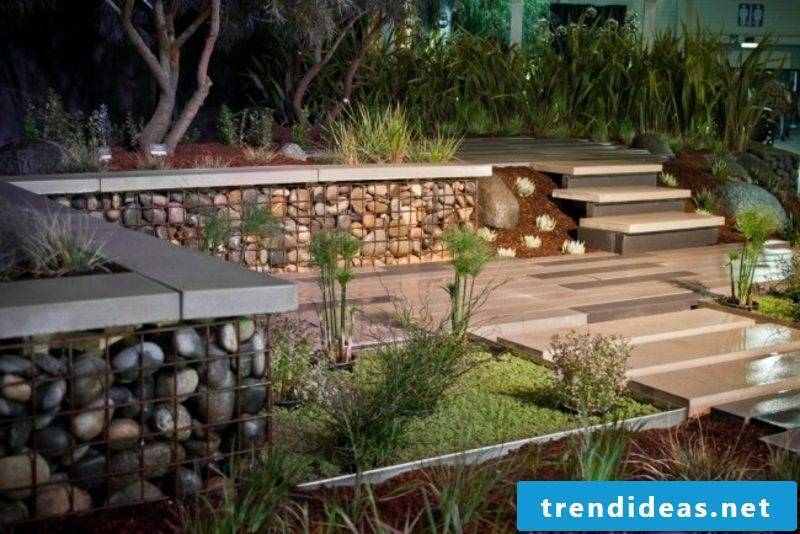 classic gabion fence made of stone