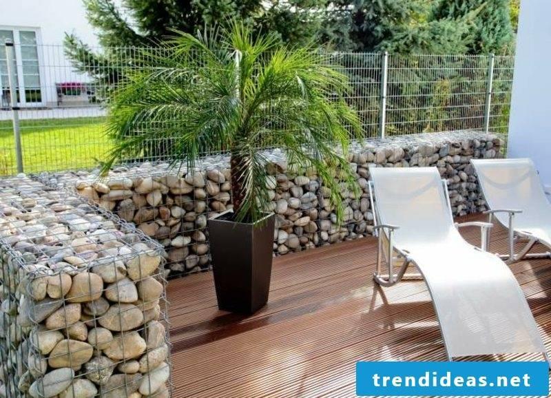Gabion fence garden decor