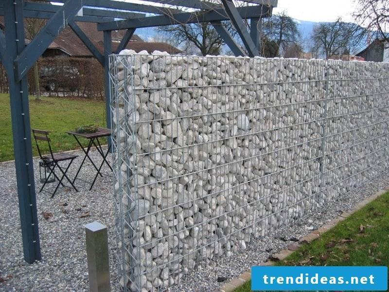 Gabion fence garden design