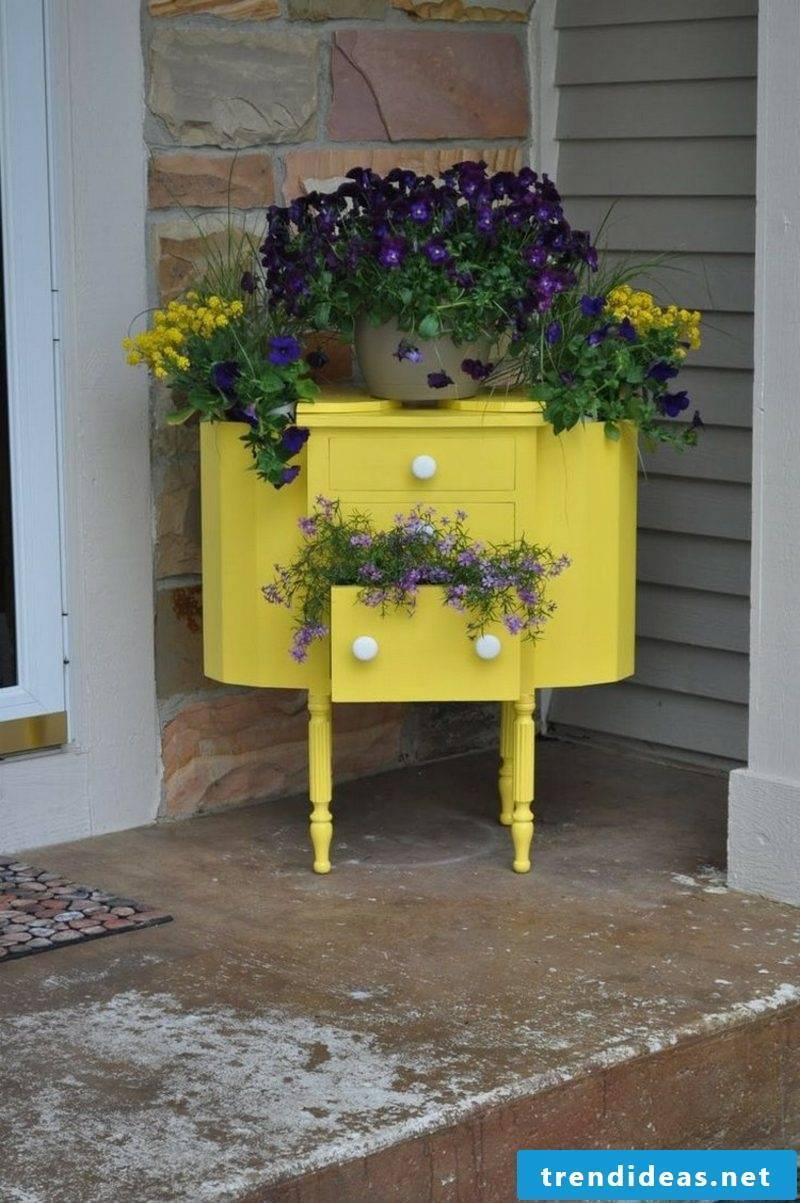 Garden ideas for little money dresser upcycling