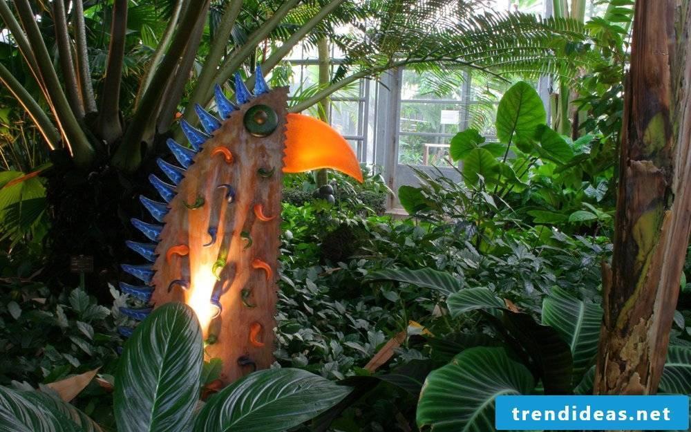 colorful garden sculptures