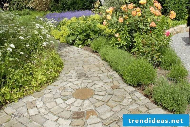 Garden design Ideas Paths create mosaic