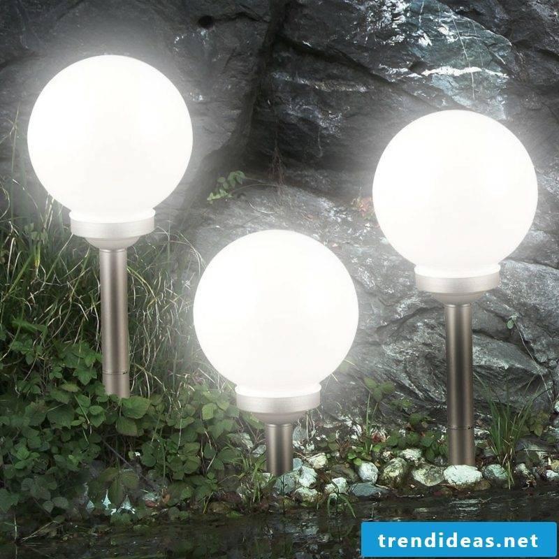 Garden design ideas Beleuctung solar lamps