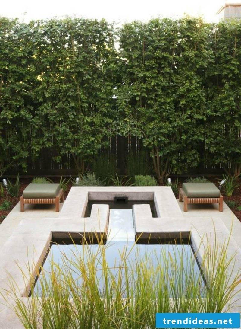 Gardening ideas pond geometric interesting look