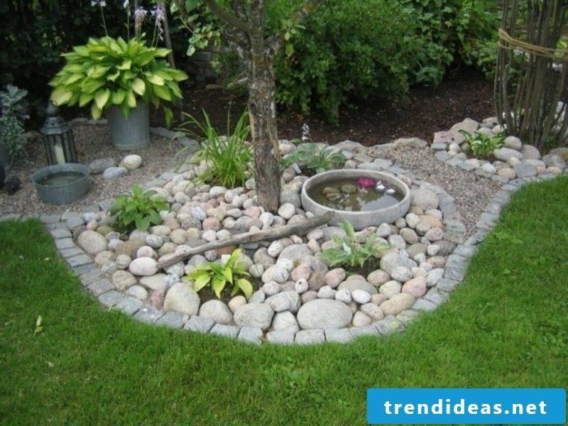 creative gardening ideas miniteich decorative stones