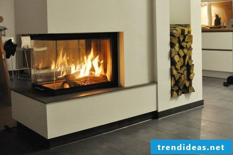 Wood fire look gas fireplaces