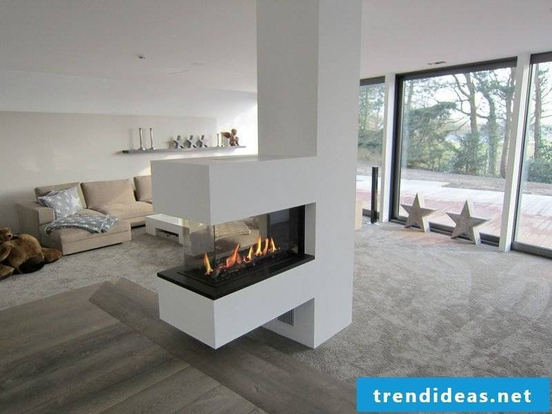 at a gas fireplace i. d. R. a so-called LAS chimney (air exhaust system) required