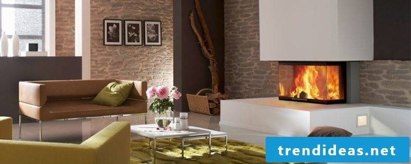 Design of the fireplace gas fireplace