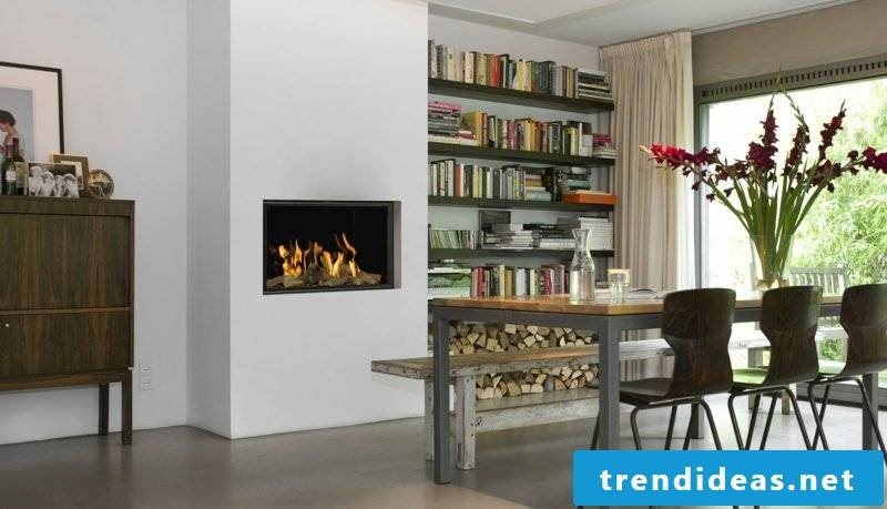 Comfortable and clean gas fireplace