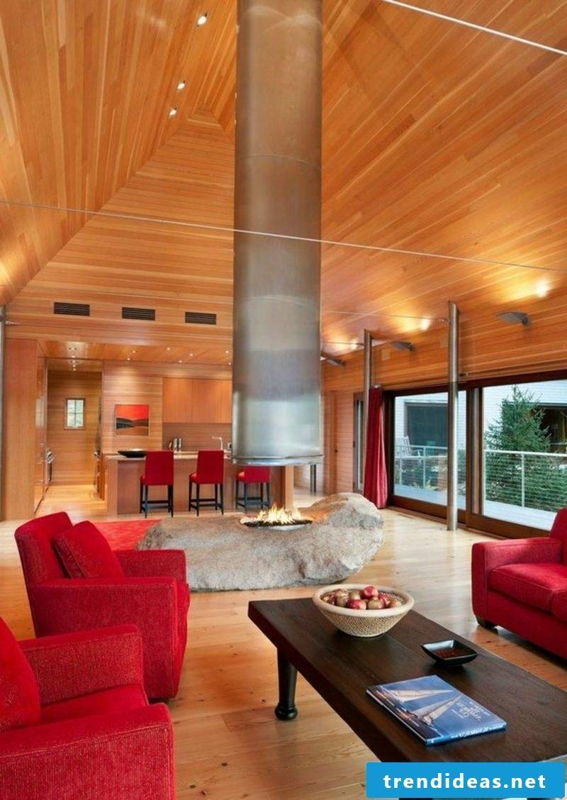 Design variants and versions gas fireplaces
