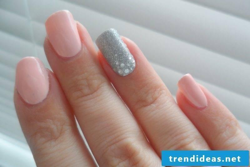 gel nails gallery pink