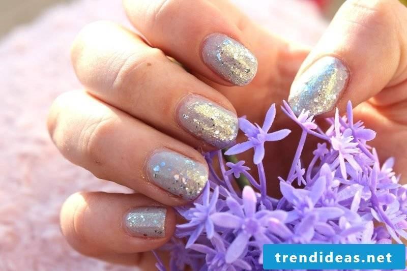 gel nails gallery glitter